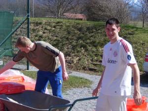 Tennis Platzarbeiten