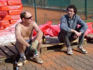 Tennisplatzarbeiten