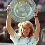 Steffi Graf in Wimbledon. Sie gewinnt den Grand Slam.