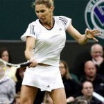 In einem Schaukampf im Wimbledon.