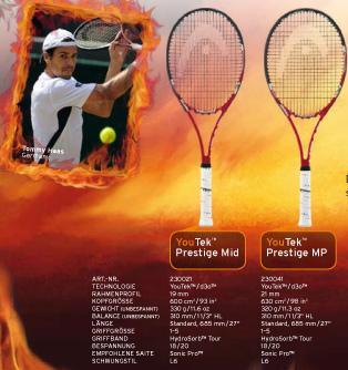 Tommy Haas, Head Tennisschläger Youtek Prestige
