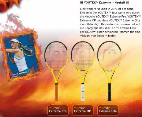 Head Youtek Extreme Tennisschläger, Victoria Azarenka